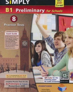Simply B1 Preliminary for Schools - 8 Practice Tests Self-Study Edition withMP3 Audio CD - 2020 Exam