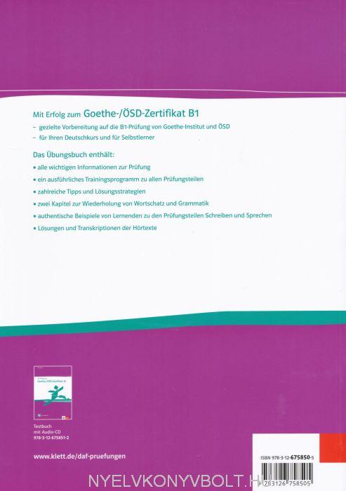 Prüfungstraining Goethe Zertifikat B2 Pdf