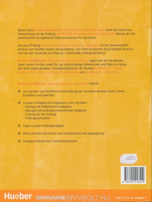 Fit Fürs Zertifikat B1 Deutschprüfung Für Jugendliche Mit Code Für