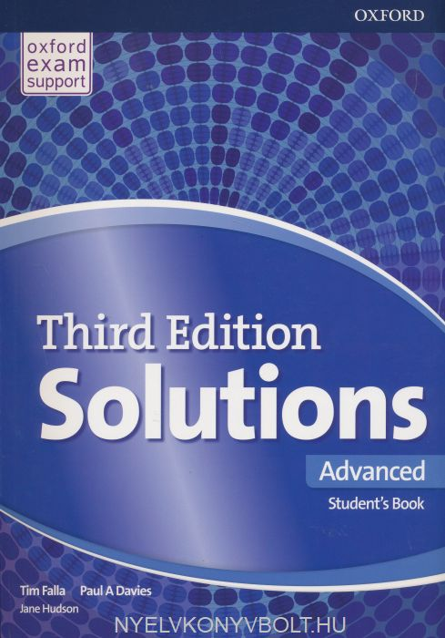 Solutions Third Edition Advanced Student\'s Book | Nyelvkönyv ...