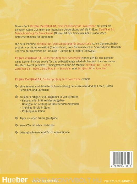 Fit Fürs Zertifikat B1 Lehrbuch Mit Zwei Integrierten Audio Cds