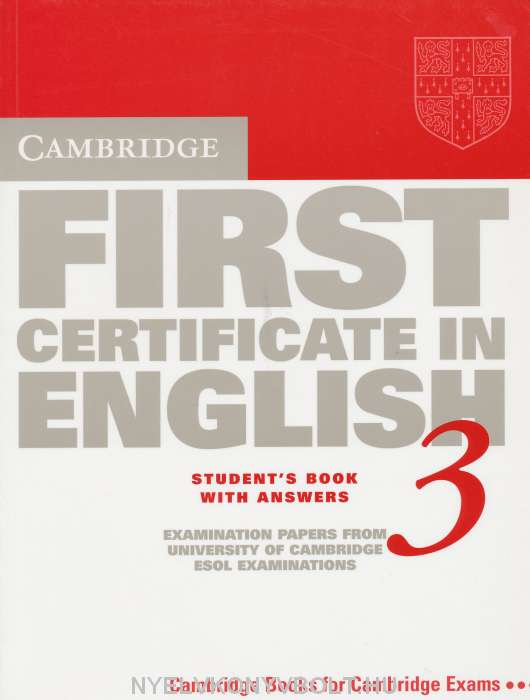 Cambridge First Certificate In English 3 Examination Papers Students Book With Answers