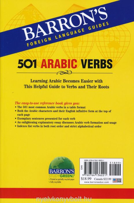 501 Arabic Words - Barron's Foreign Language Guides | Nyelvkönyv