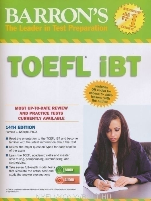 Barron's TOEFL iBT - 14th Edition with Audio CDs (10) | Nyelvkönyv