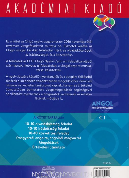 Angol felsőfokú írásbeli nyelvvizsga C1   Nyelvkönyv