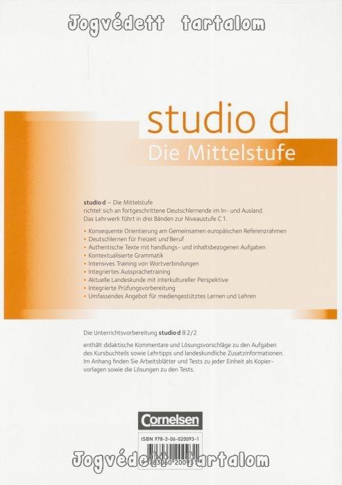 Studio D die Mittelstufe B2/2 Unterrichtsvorbereitung mit ...