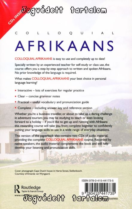 Colloquial Afrikaans Book Double Cd Pack The Complete Course For
