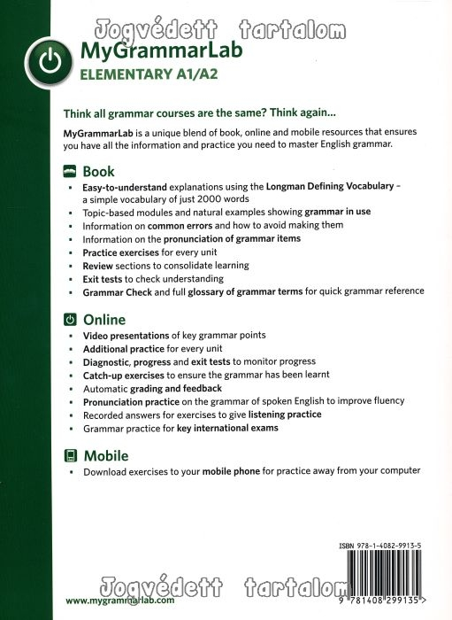 MyGrammarLab Elementary A1/A2 with Key, Online Access Code