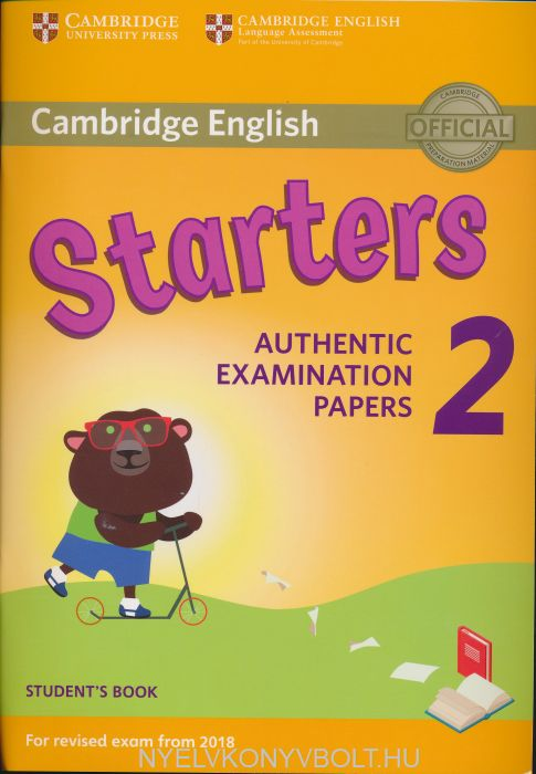 Cambridge English Starters 2 Student S Book For Revised Exam From