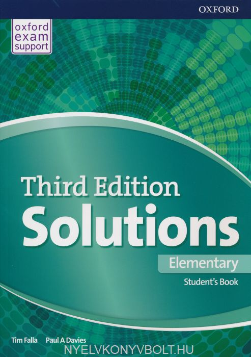 Solutions Third Edition Elementary Student\'s Book | Gyerekkönyv ...