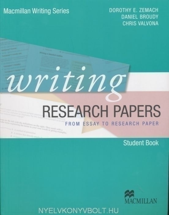 writing research papers from essay to research paper student book  writing research papers from essay to research paper student book