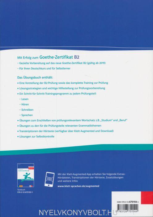 Mit Erfolg Zum Goethe Zertifikat B2 übunsbuch Passend Zur Neuen
