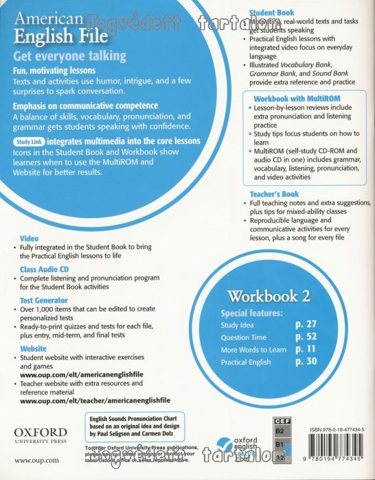 American english file level 2 workbook with multi rom pack with fandeluxe Images