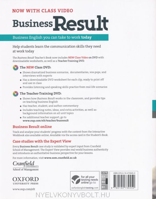 Business Result Upper-Intermediate Teacher's Book with