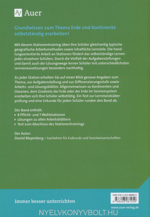 Stationentraining Erde & Kontinente: Kopiervorlagen für die 5./6 ...