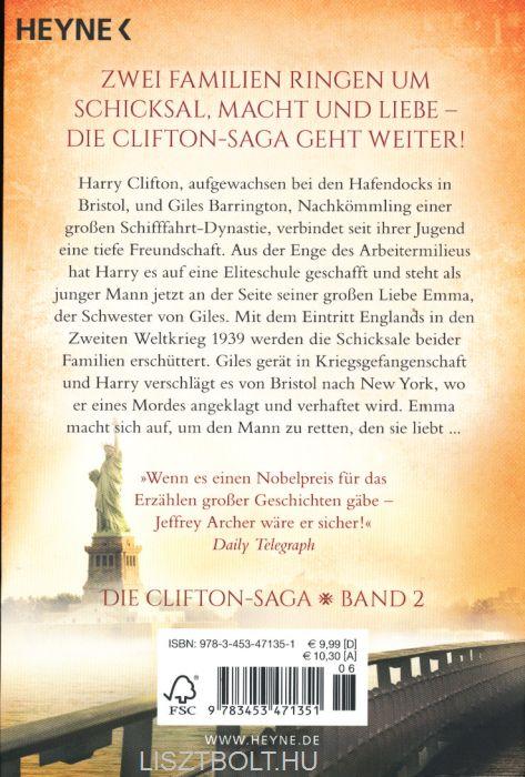 Jeffrey archer clifton saga reihenfolge