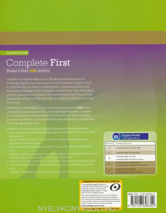 Complete First Student's Book with answer & CD-ROM & Class