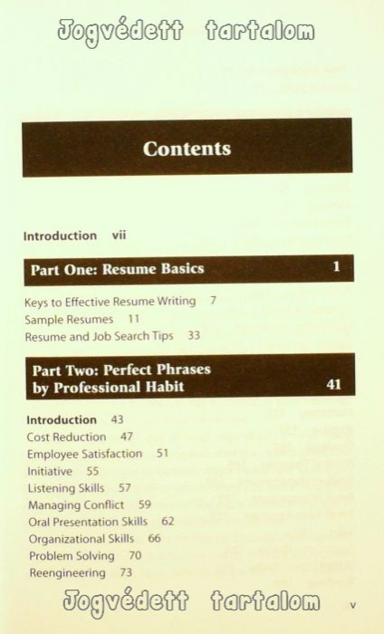 perfect phrases for resumes