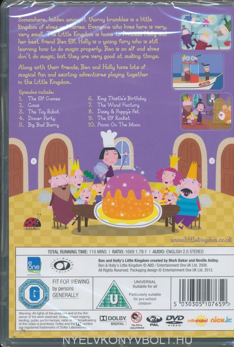 Ben And Holly S Little Kingdom The Elf Games Dvd