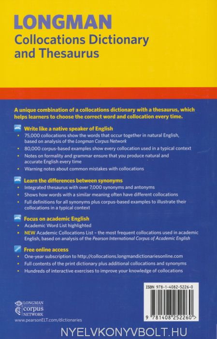 Longman Collocations Dictionary and Thesaurus with Online ... - photo#46