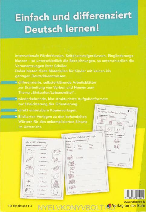 Im Supermarkt – differenzierte Arbeitsblätter für Deutsch-Anfänger ...