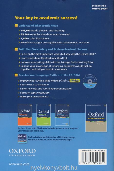 Oxford Advanced American Dictionary for learners of English with CD