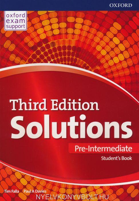 Solutions Third Edition Pre-Intermediate Student\'s Book | Nyelvkönyv ...
