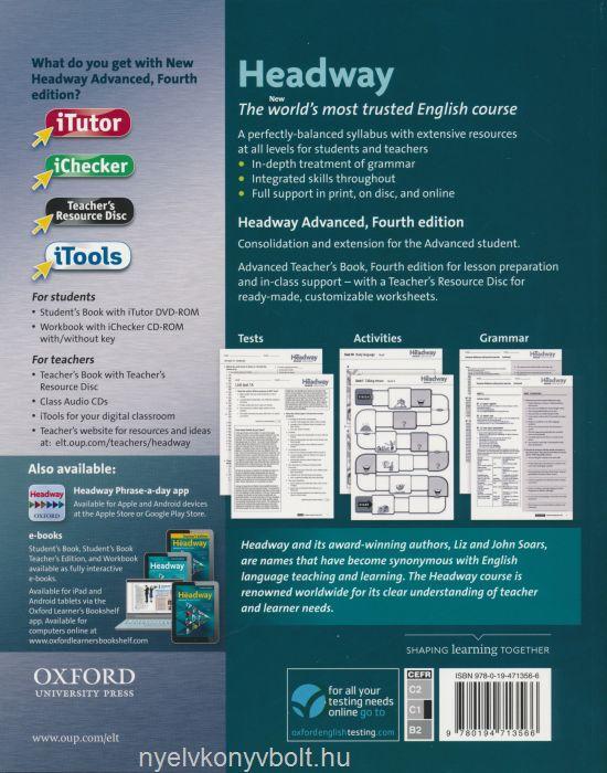 New Headway 4th edition Advanced Teacher's Book with Teacher's