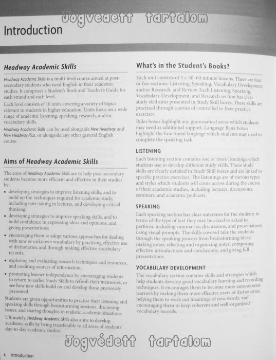 Headway Academic Skills 2 Listening and Speaking Teacher's Guide