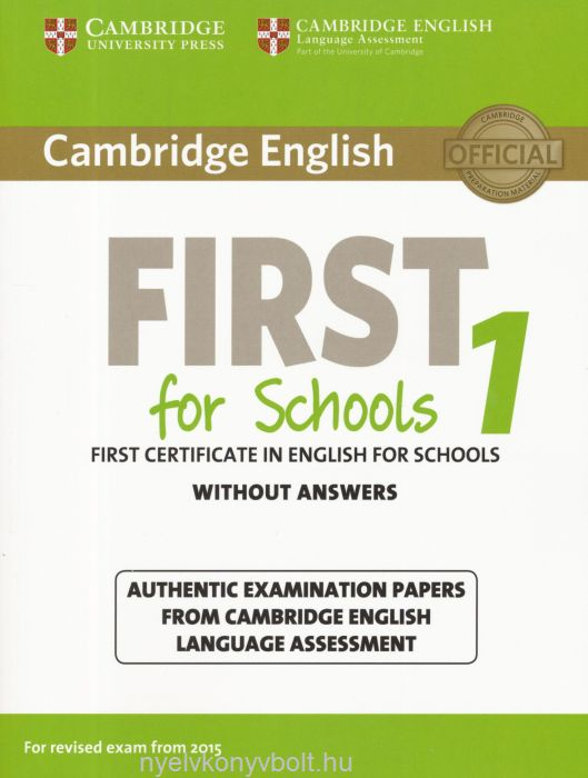 Cambridge english first for schools without answer for revised cambridge english first for schools without answer for revised exam from 2015 yelopaper Image collections