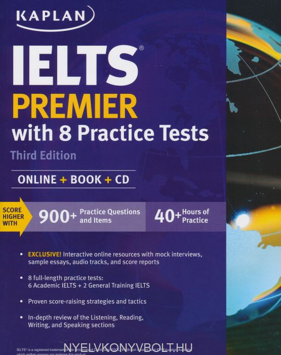 IELTS Premier with 8 Practice Tests: Online + Book + CD | Nyelvkönyv ...