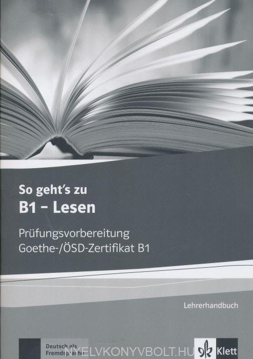 So Gehts Zu B1 Lesen Lehrerhandbuch Mit Kopiervorlagen Und