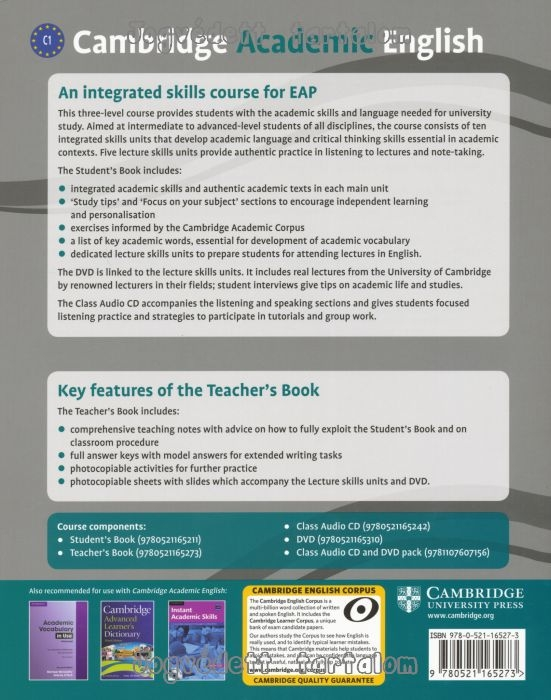 Cambridge academic english c1 advanced teachers book an cambridge academic english c1 advanced teachers book an integrated skills course for eap fandeluxe Images