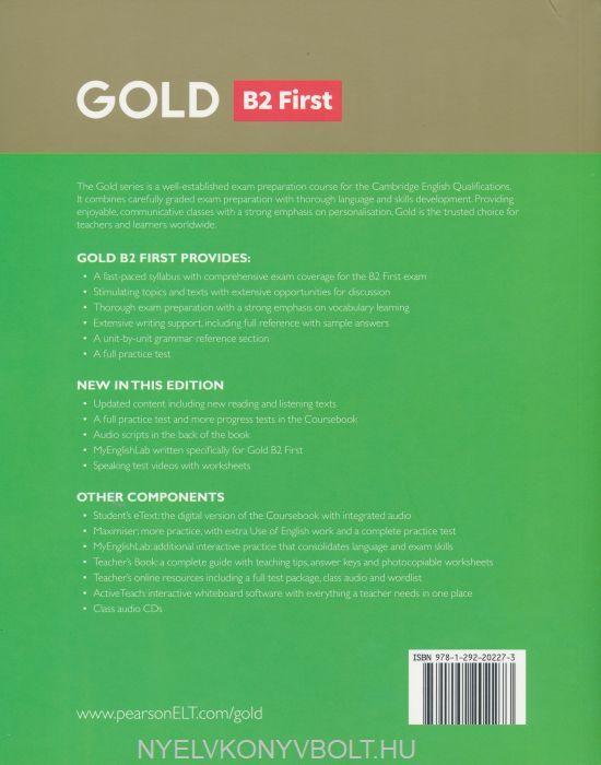 Gold B2 First Coursebook | Nyelvkönyv forgalmazás - Nyelvkönyvbolt