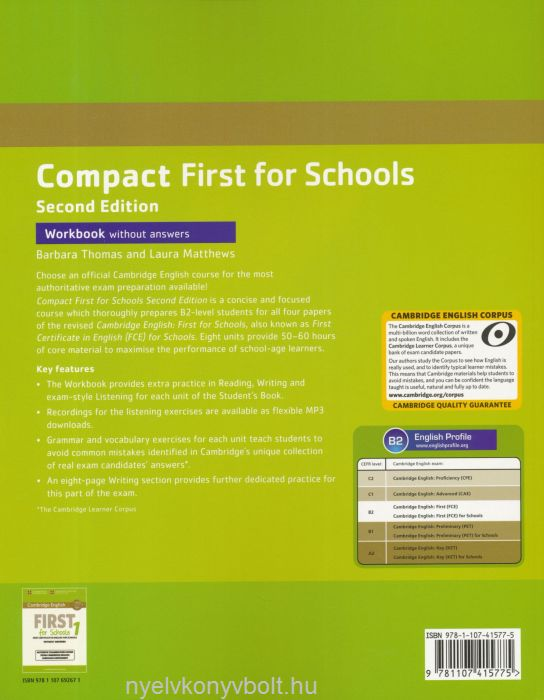 Cambridge English Compact First For Schools