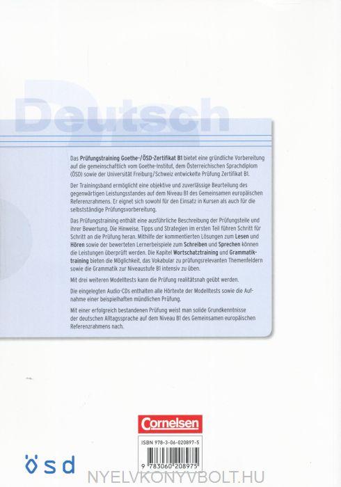 Prüfungstraining Goethe ösd Zertifikat B1 Mit 2 Audio Cds