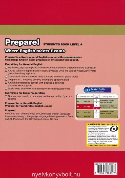 Cambridge English Prepare! Students Book Level 4