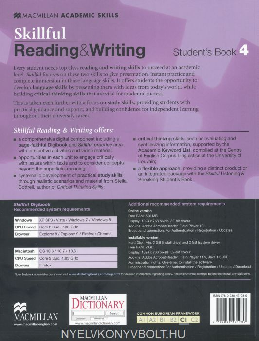 Skillful Reading & Writing Student's Book 4 with Digibook access
