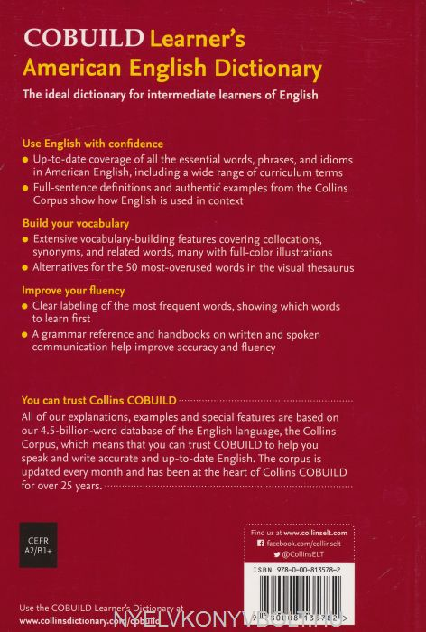 Collins Cobuild Learner's American English Dictionary 3rd