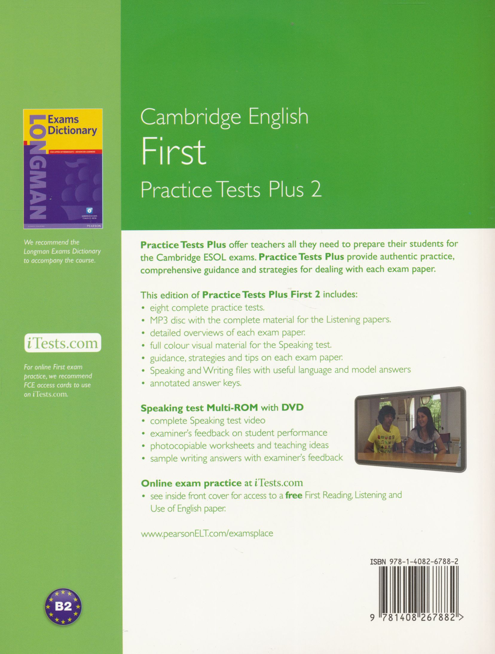 Fce practice tests plus 2 with key and audio cds 2 and itests and speaking test multi rom new edition