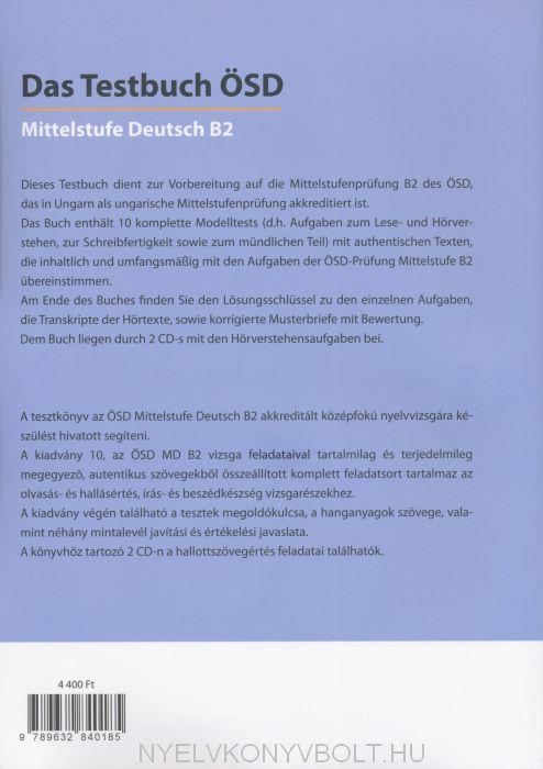 Das Testbuch ösd Mittelstufe Deutsch B2 Mit Hörtexten Zum