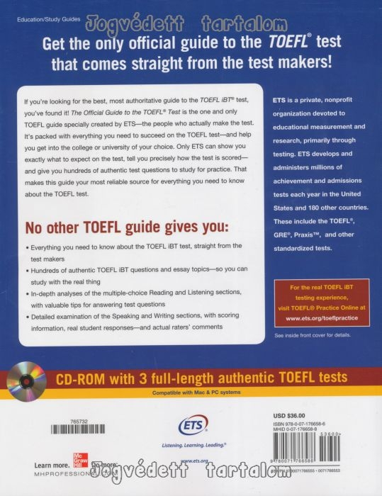 ETS - Official Guide to the TOEFL Test With CD-ROM (4th