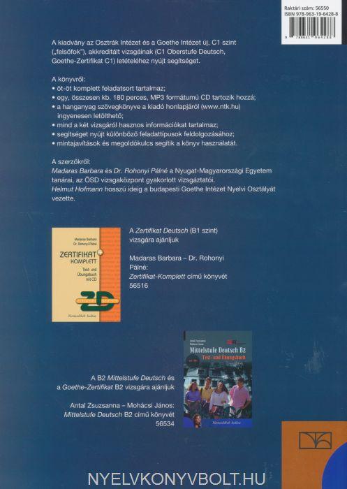 Oberstufe Deutsch C1 Test Und übungsbuch Mit Cd Nyelvkönyv