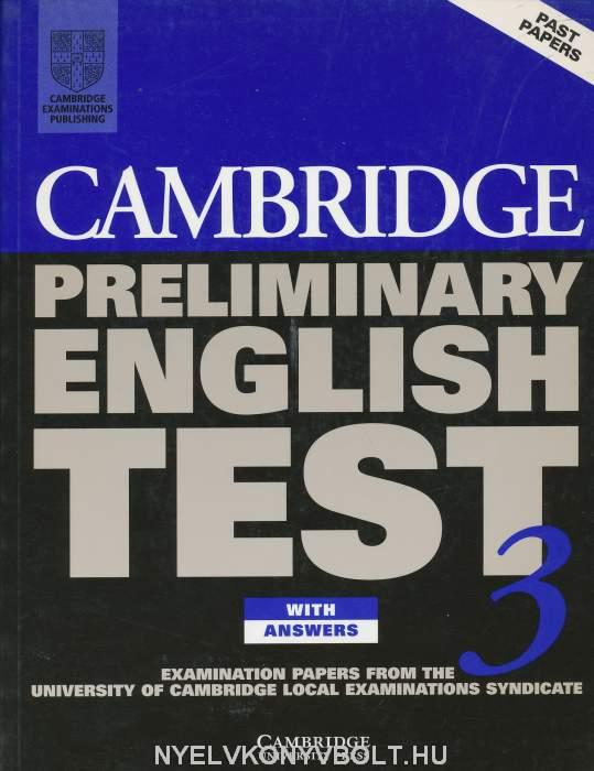 Cambridge Preliminary English Test 3 Official Examination