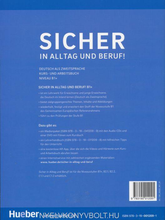 sicher in alltag und beruf niveau b1 deutsch als zweitsprache kurs und arbeitsbuch. Black Bedroom Furniture Sets. Home Design Ideas