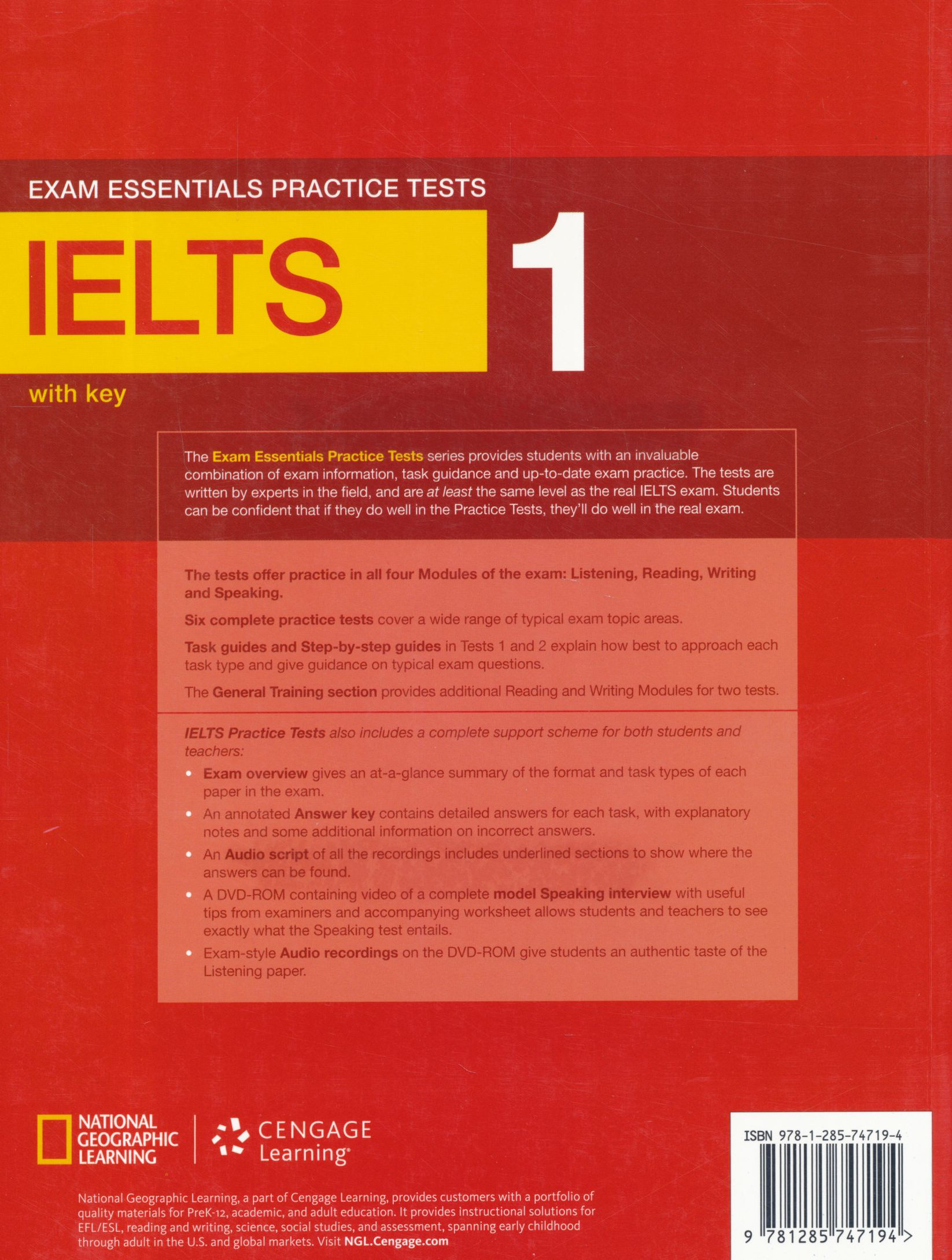 Exam Essentials Practice Tests IELTS 1 with Key and DVD-ROM